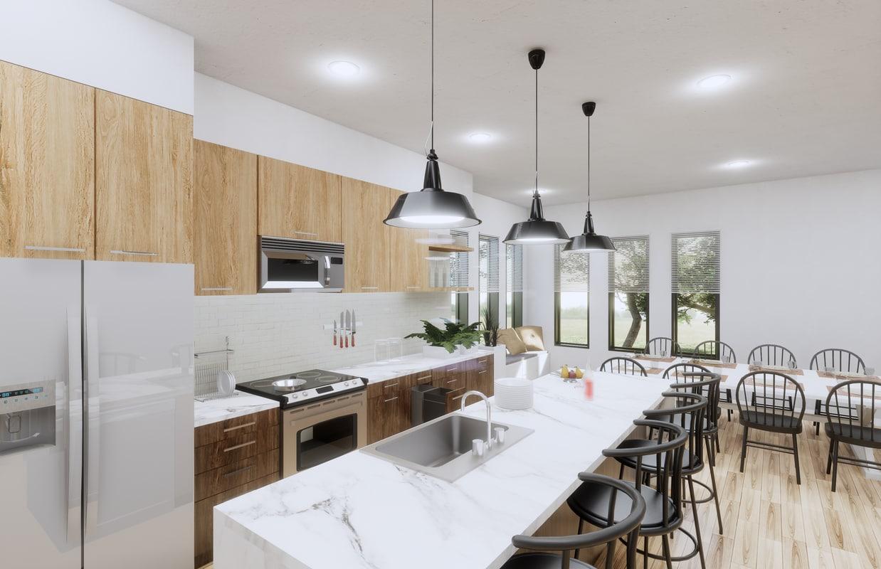kitchen revit 3D