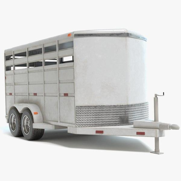 3D model horse trailer