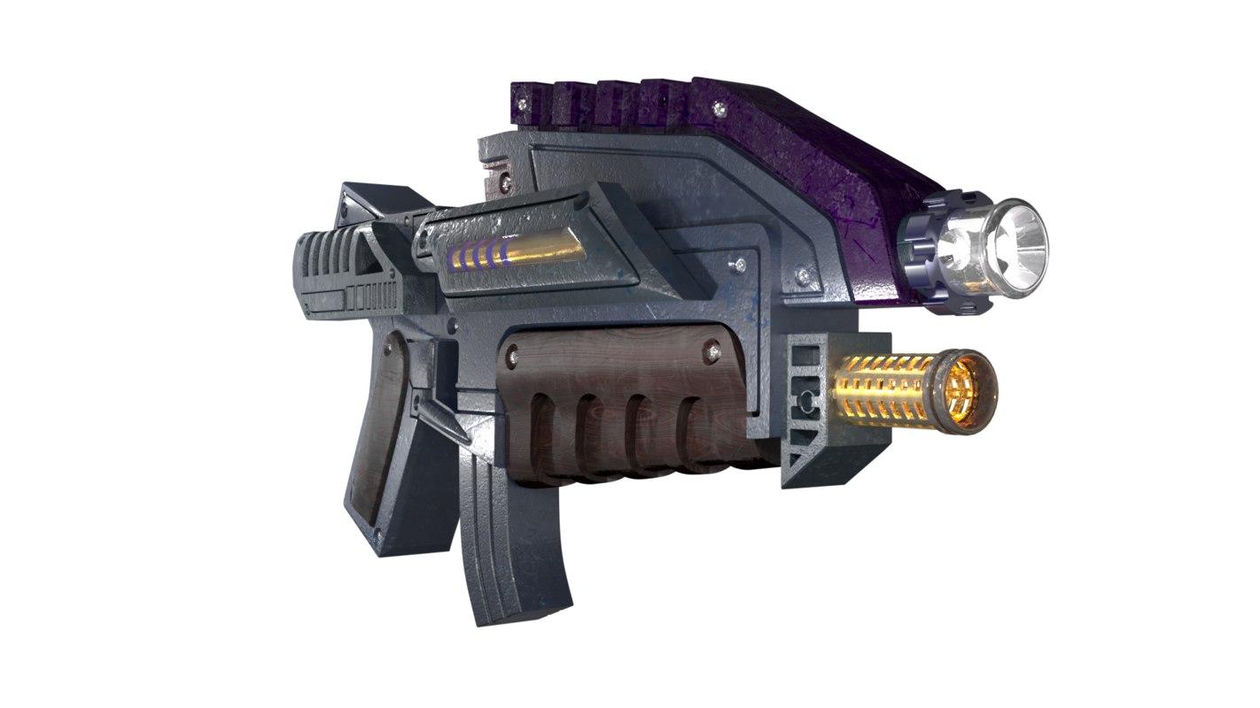 3D star assault blaster model