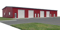 3D commercial warehouse doors site