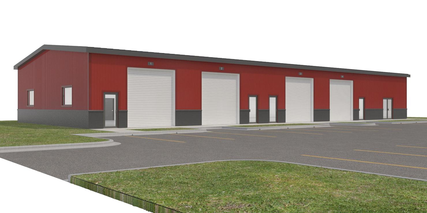 commercial warehouse doors site 3D model