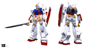 3D rx-78nt-1 gundam alex model