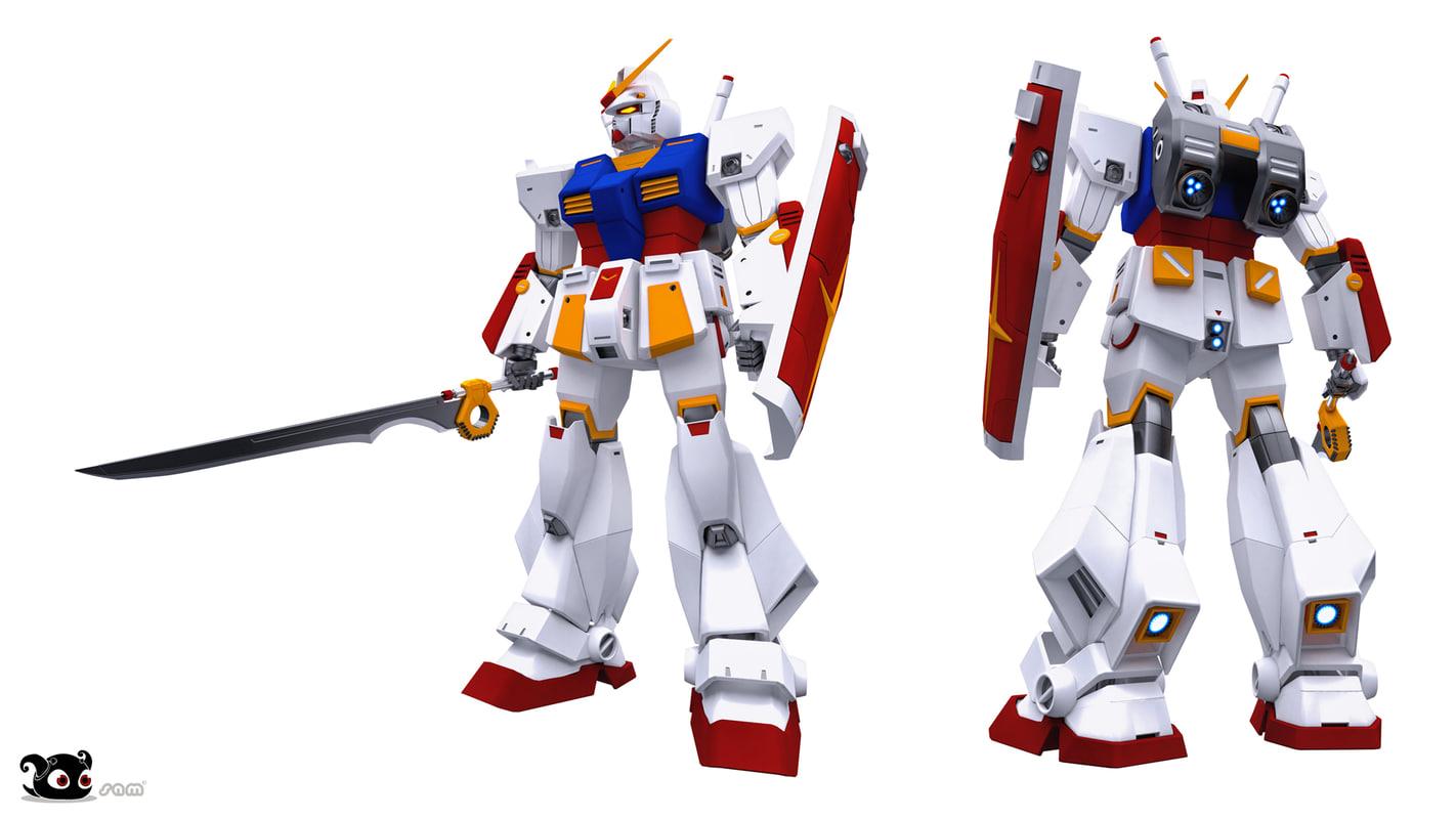 3D rx-78nt-1 gundam alex model