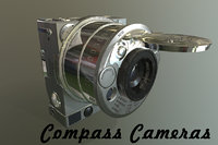 compass cameras 3D model