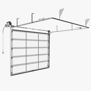 panoramic garage door 3D model