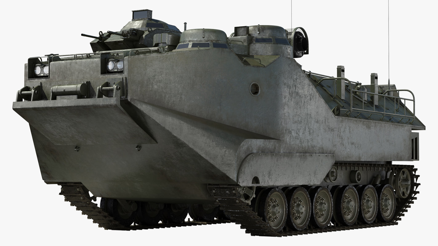 amphibious vehicle personnel 3D model