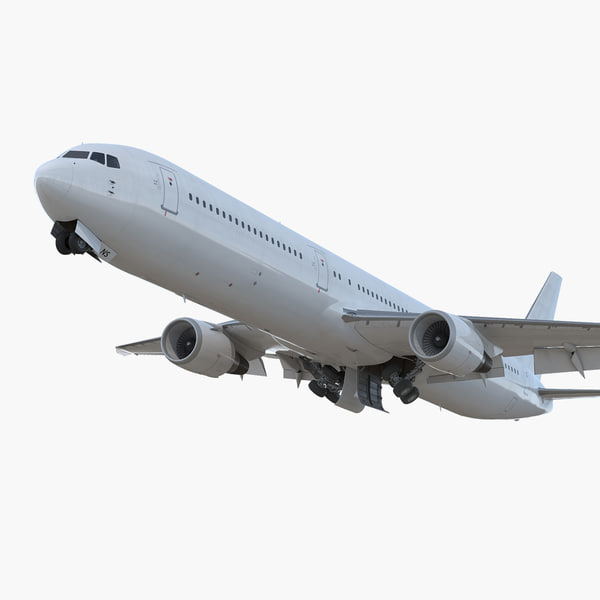 boeing 767-400er generic rigged 3D model