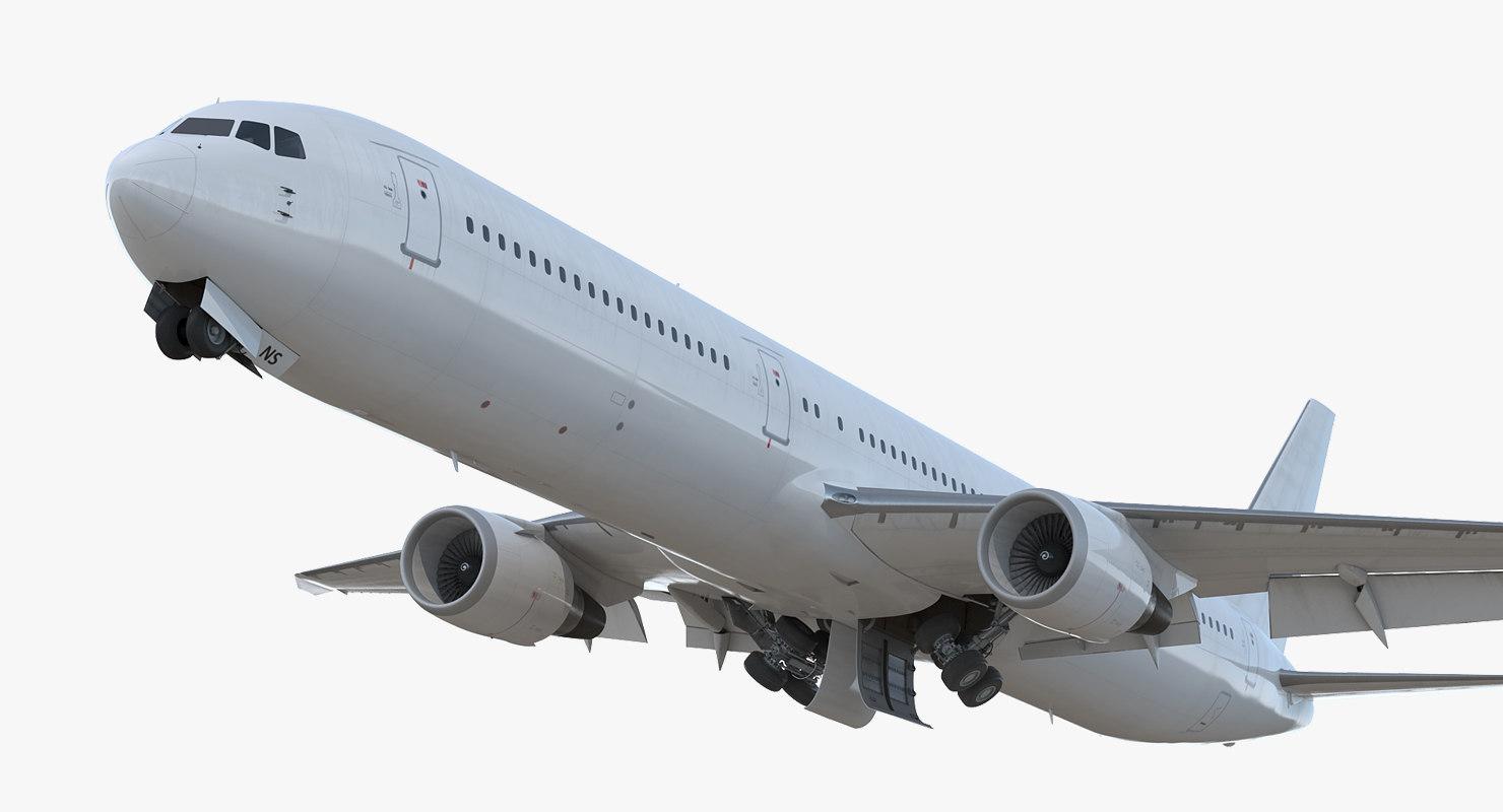 boeing 767-400er generic rigged 3D model