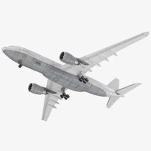 3D model jet airliner airbus a330-200