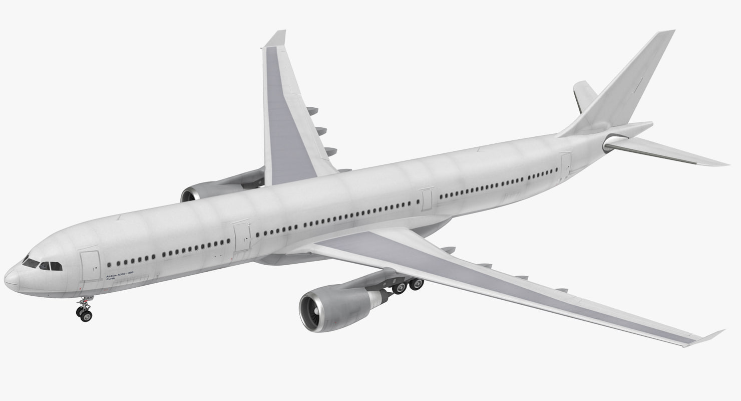 3D jet airliner airbus a330-300 model