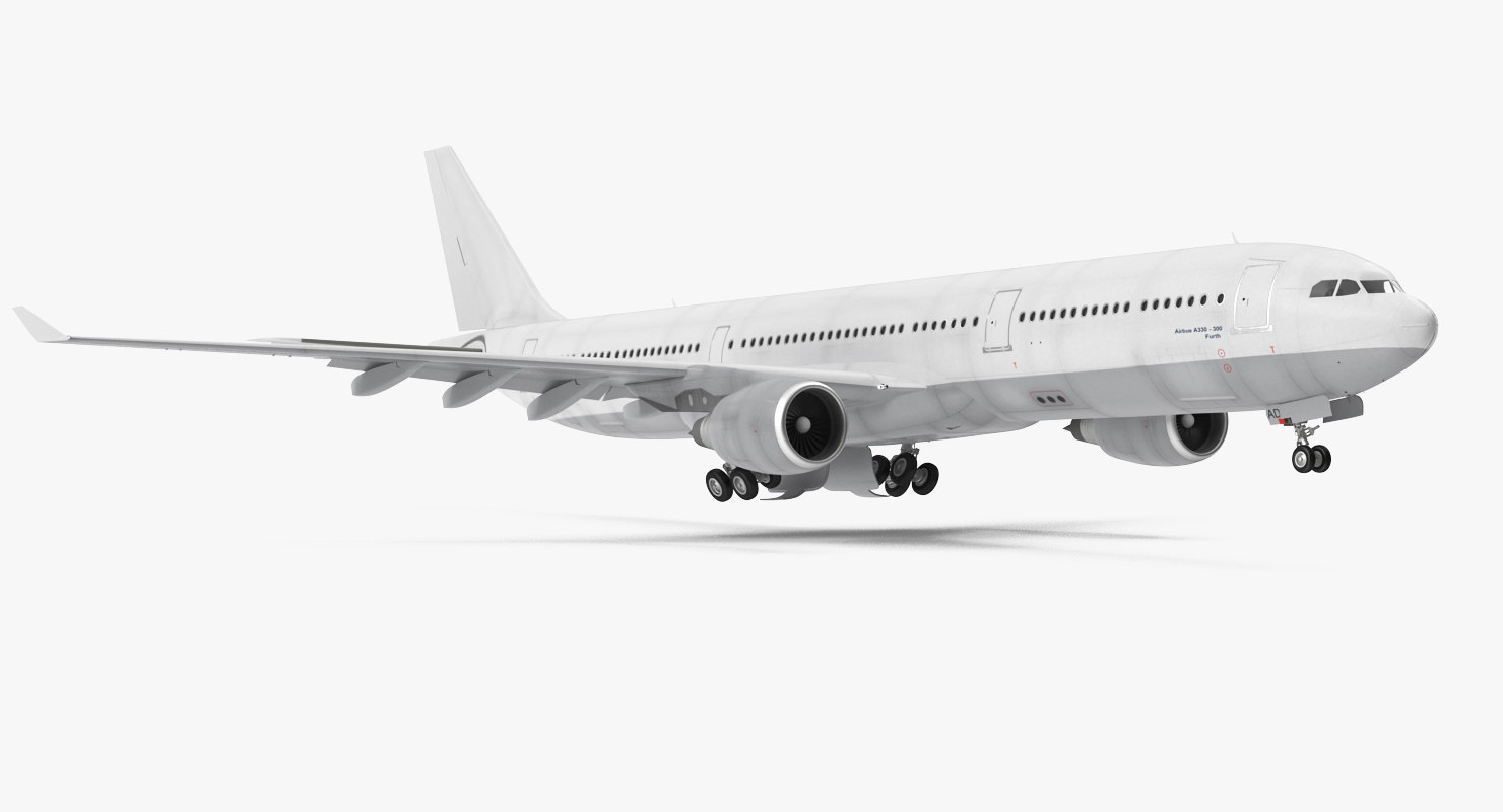 3D jet airliner airbus a330-300