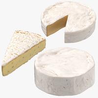 brie cheese 3D