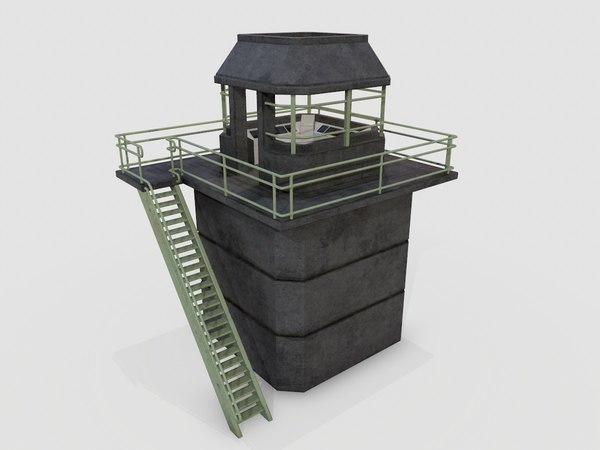 watchtower watch tower 3D model