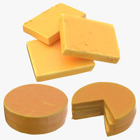 3D cheddar cheese model