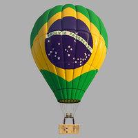 parachute brasil 3D model