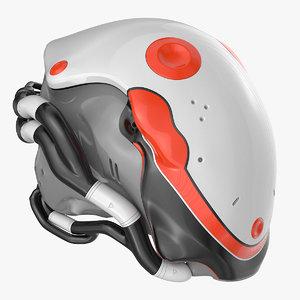 helmet vr plastic 3D model