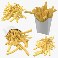 3D fries model