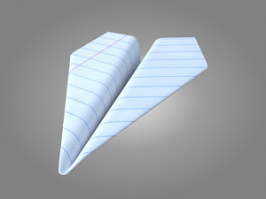 3D model paper airplane