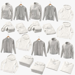 male female hoodies 3D