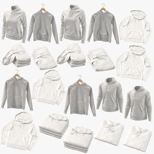 male female hoodies 3D
