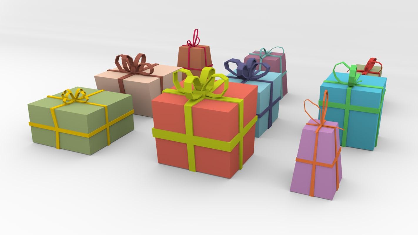 3D model cartoon gifts