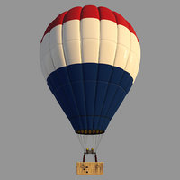 parachute nederland 3D model