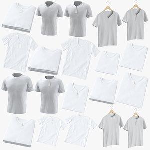 3D crew male t-shirts model