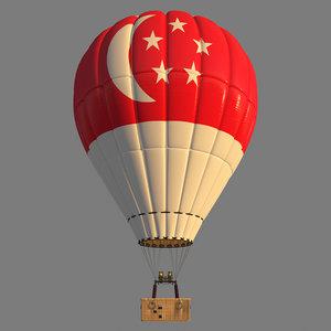 singapore parachute 3D model
