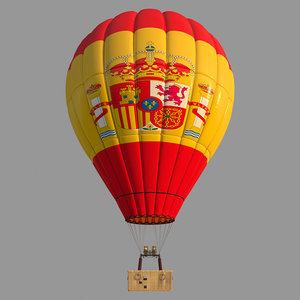 parachute spain 3D model