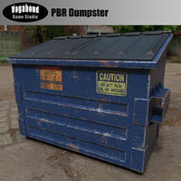 Low-Poly PBR Dumpster