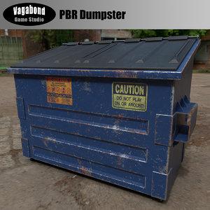 dumpster pbr 3D