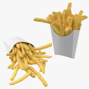 3D fries boxes model