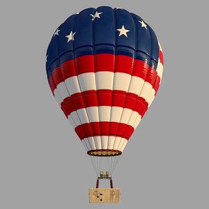 usa parachute 3D model