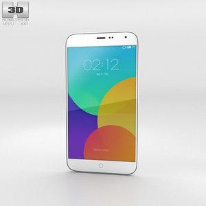 3D meizu mx4 white