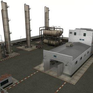 refinery complex 3D model