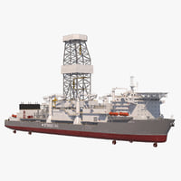 oil drilling vessel drillship model