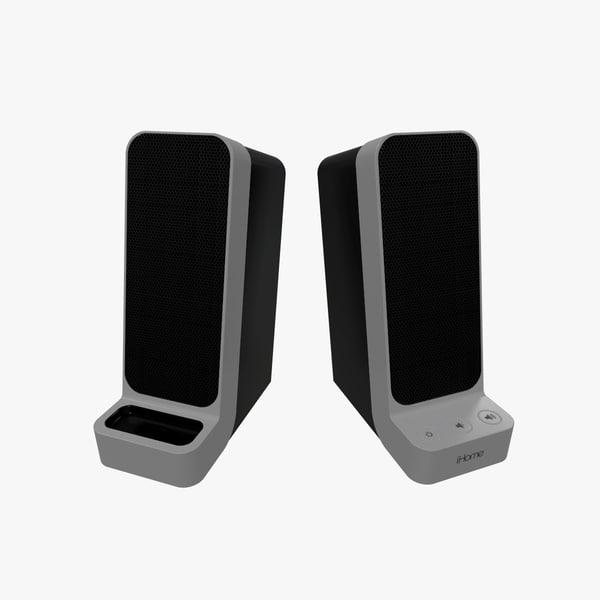 3D ihome ip71 speakers model