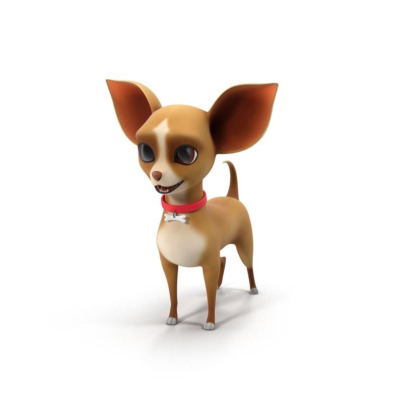 3D cute cartoon chihuahua model