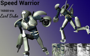speed warrior yugioh 3D model
