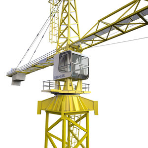 3D tower crane liebherr 280