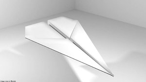 3D origami plane model