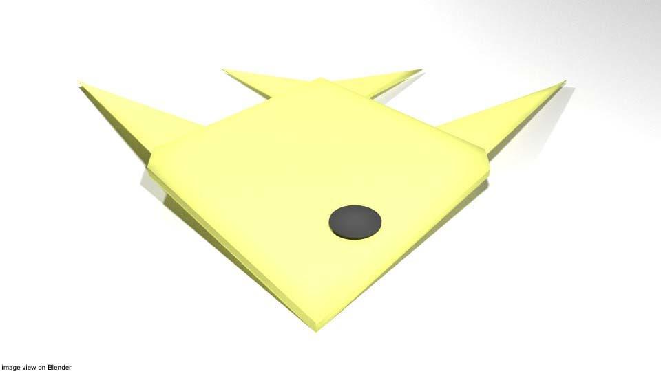 3d Model Fish Origami Turbosquid 1234568