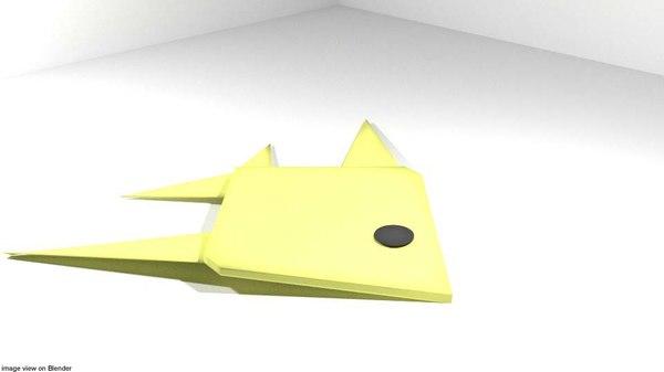 3D model fish origami