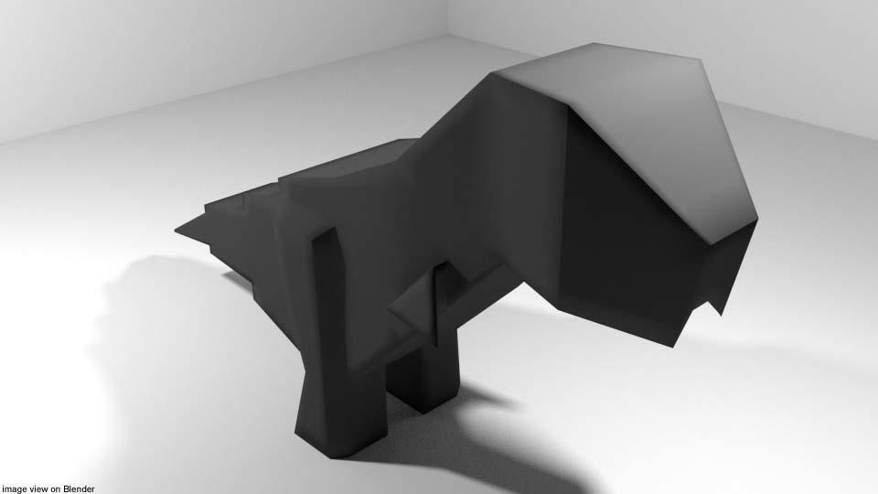 dinosaur origami 3D model
