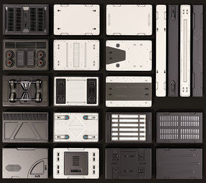 sci fi panels kitbash model