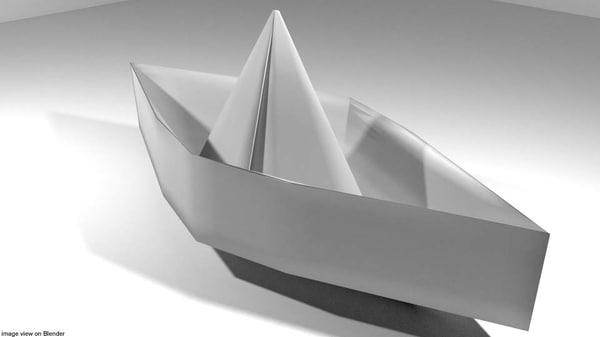 3D model boat origami