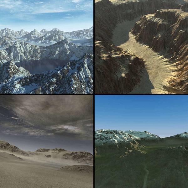 terrains 02 landscape 3D