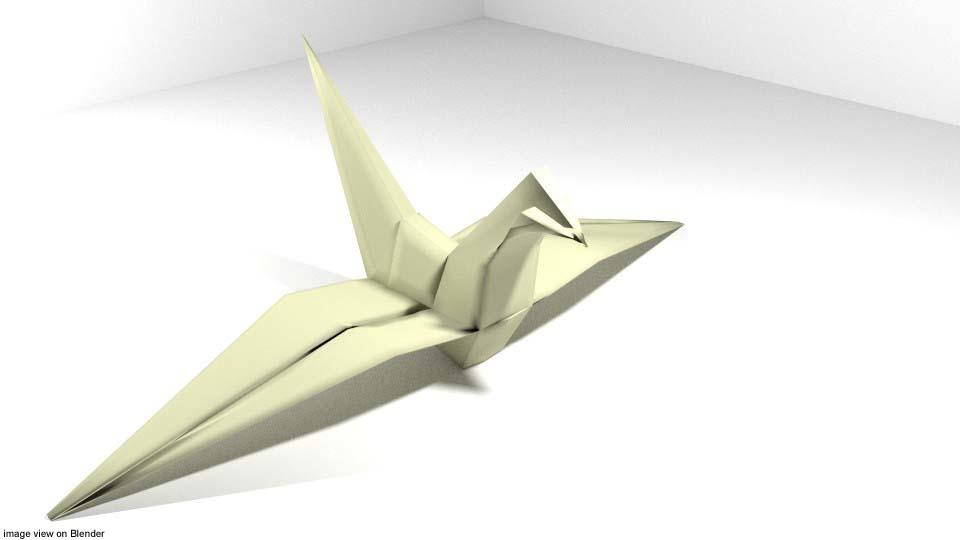 3D bird origami