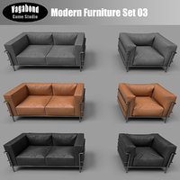 modern low-poly sets 3D model