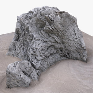 3D model rock scan 28